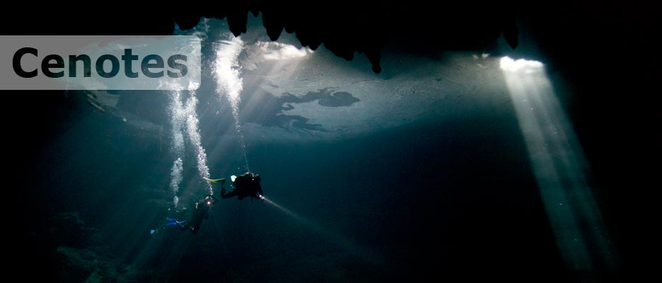 diving cenotes with deep deep down
